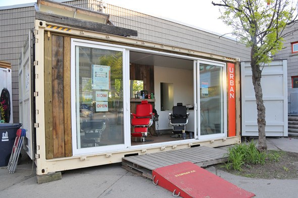 Open Side Shipping Container Shop