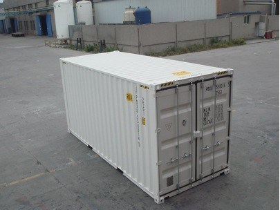 shipping container with doors at both ends
