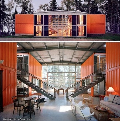 Adriance House Shipping Container Home Maine USA