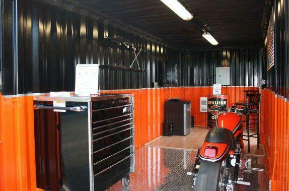 Shipping container man cave
