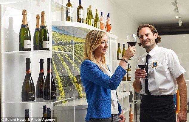Aldi Wine Pop Up Shop