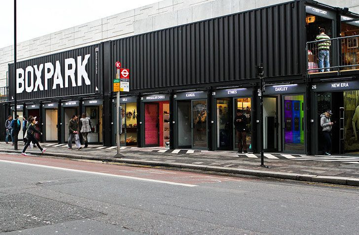 Box Park Pop Up Stores