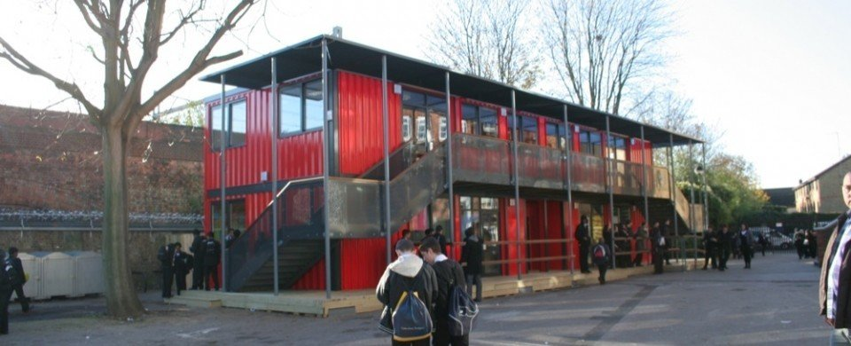 Shipping Container School - Morpeth School in London