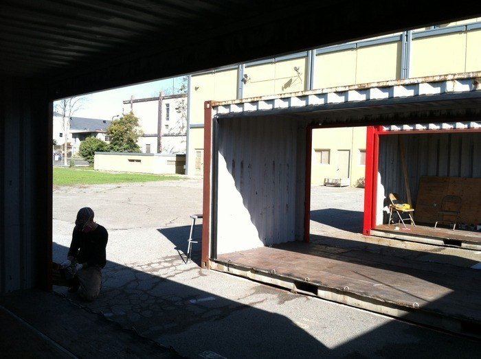 Shipping Container Classroom - REALM Charter School, Berkeley California
