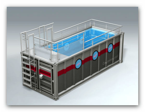 shipping container swimming pools premier box. Black Bedroom Furniture Sets. Home Design Ideas