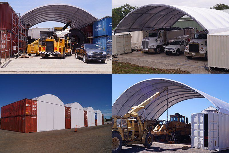 Shipping Containers and Dome Shelters