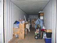 Storing boxes in shipping container