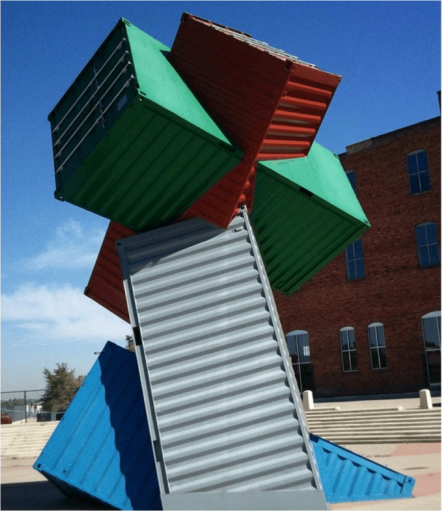 shipping container art