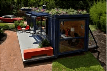 garden shipping container holiday home