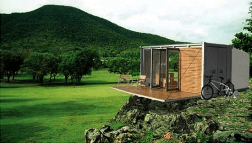 all terrain shipping container cabin