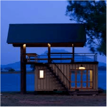 beachfront shipping container holiday home