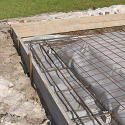 concrete slab for shipping container