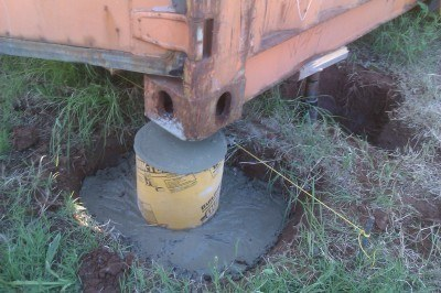 concrete footing for shipping container